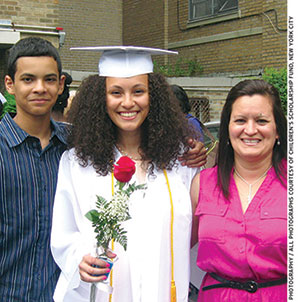 Alyesha Taveras (left) graduated from high school in 2012 and is currently enrolled at Seton Hall University.